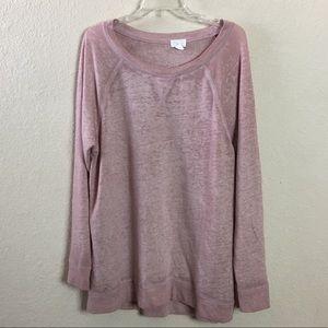 Caslon Space Dye Dusty Rose Tunic Sweatshirt